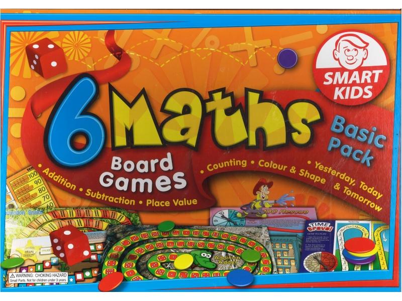 6 Maths Board Games Basic Pack - Smart Kids