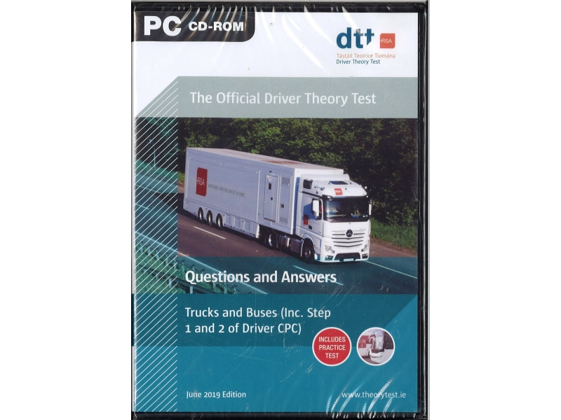 The Official Driver Theory Test Question And Answers - Trucks And Buses (Inc. Step 1 And 2 Of Driver CPC) - PC Cd-Rom