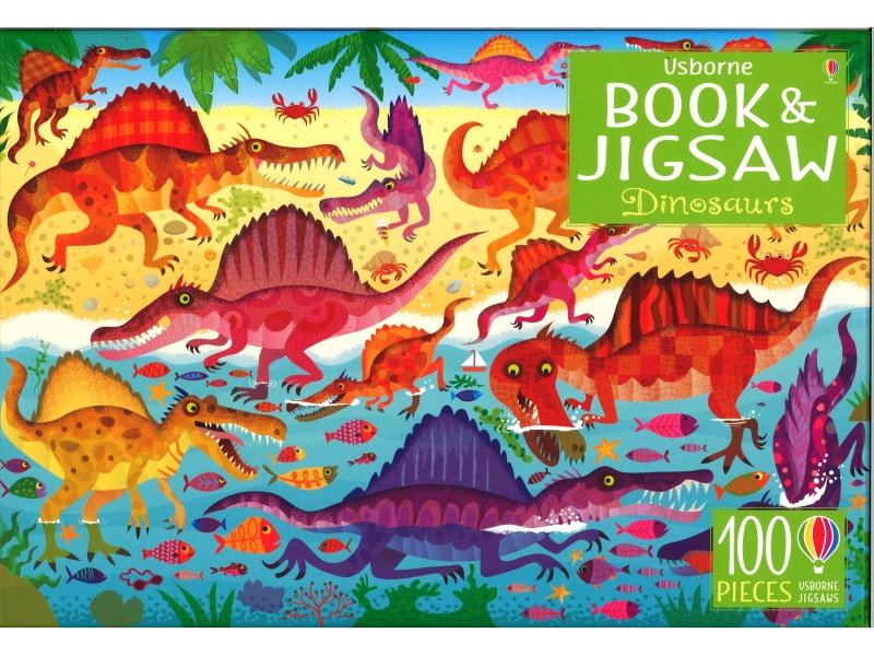 Dinosaurs - Book & Jigsaw - 100 Pieces