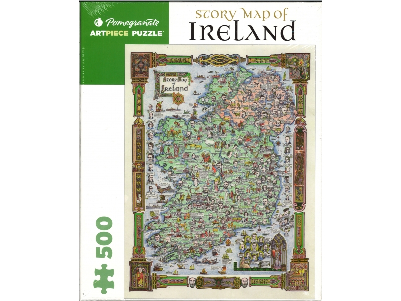 Story Map Of Ireland - 500 Piece Jigsaw