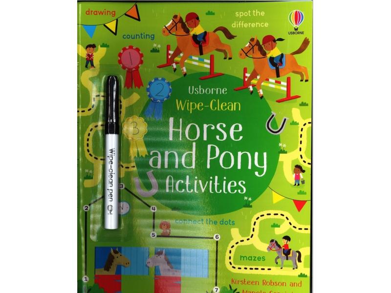Usborne - Wipe-Clean Horse And Pony Activities