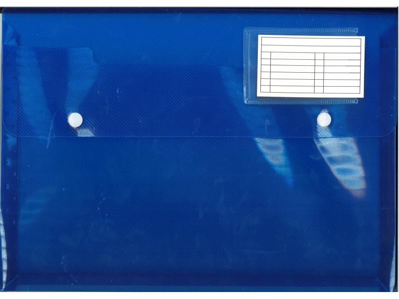Button Wallet A4 - 2 Button - Assorted Colours