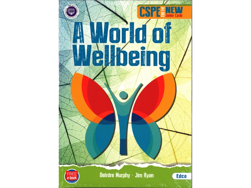 A World of Wellbeing Pack - Textbook & Reflective Journal - Junior Cycle CSPE - Includes Free eBook