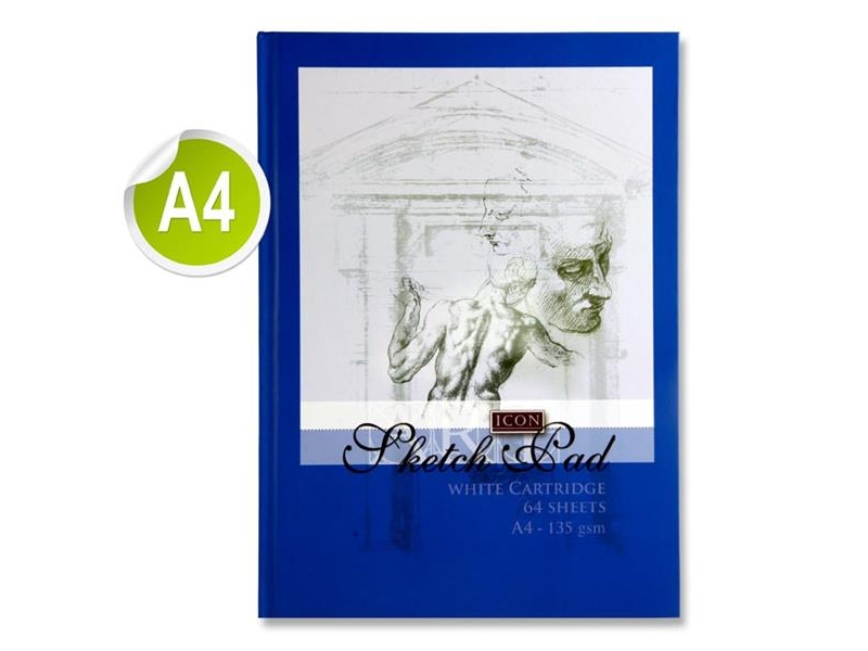 Sketch Book Hardcover A4 135gsm - 64 Sheets