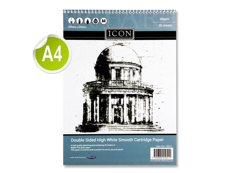Sketch Pad A4 90gsm - 30 Sheets - Spiral