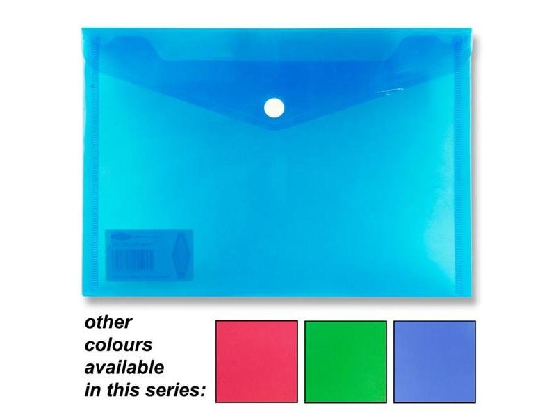 Button Wallet / Folder A5 - Assorted Colours