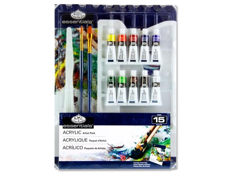 Royal Langnickel Essentials - Acrylic Artist Pack 15 Pieces