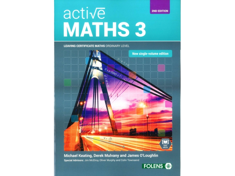 Active Maths 3 2nd Edition Textbook - Leaving Certificate Higher Level Project Maths