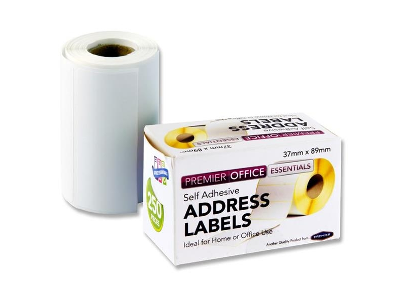 Address Labels Roll - 250's 89X37mm