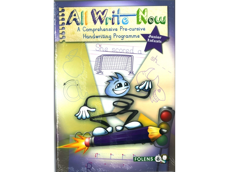 All Write Now Pack - A Comprehensive Pre-Cursive Handwriting Programme - Junior Infants - Book & Practice Copy