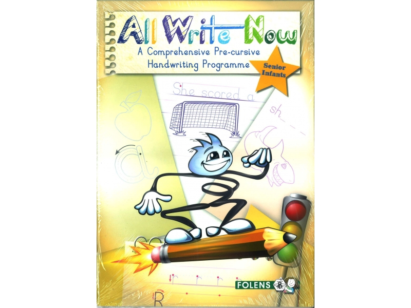 All Write Now Pack - A Comprehensive Pre-Cursive Handwriting Programme - Senior Infants - Book & Practice Copy