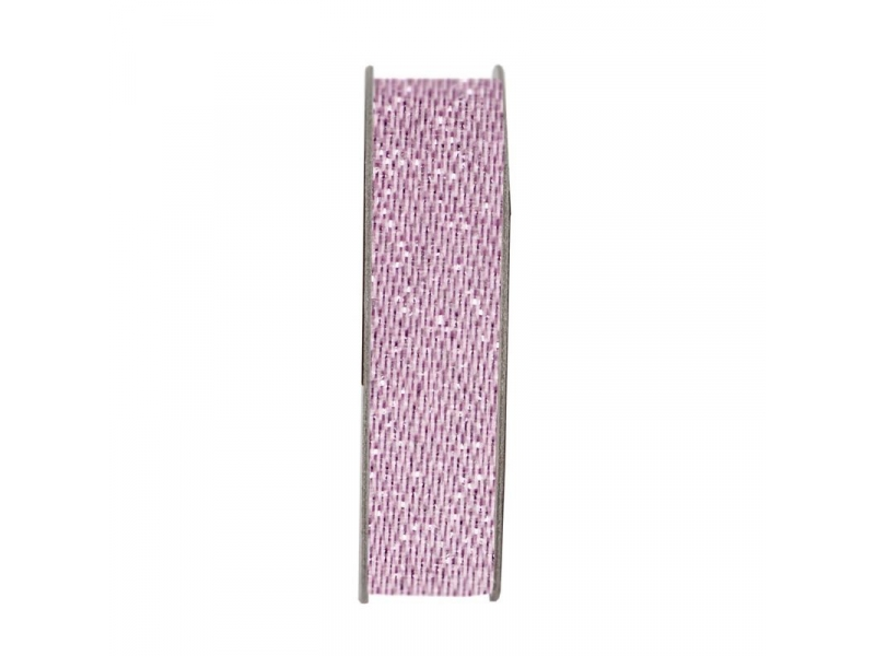 Ribbon 3m Glitter Satin - Soft Pink