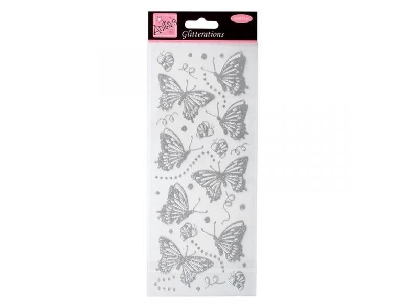 Anita's - Giltterations Silver Butterflies