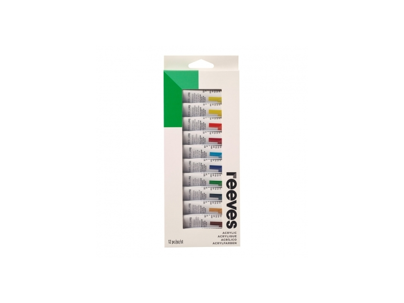 Acrylic paint set 12 tubes