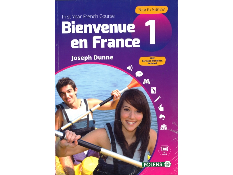 Bienvenue en France 1 Pack - Textbook & Student Portfolio Book - 4th Edition - Junior Cycle French - Includes Free eBook