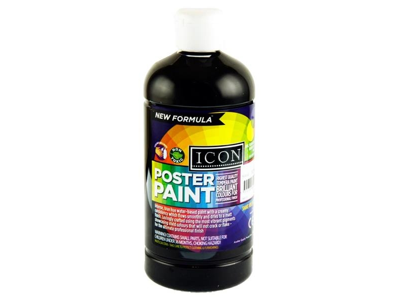 Poster Paint Black 500ml