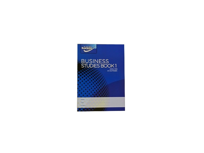 Business Studies Book 1 Analysis 40 Page