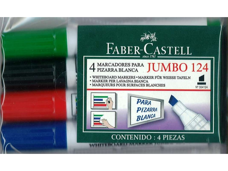 Faber-Castell Chisel Whiteboard Markers 4 Pack