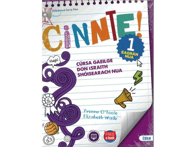 Cinnte 1 Eagrán Nua Pack - Junior Cycle Irish - Includes Free eBook