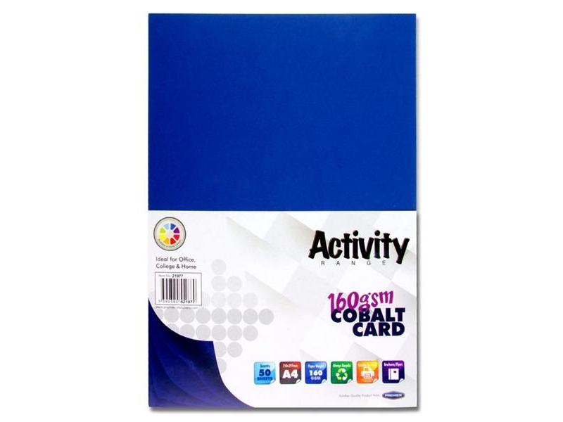 Dark Blue Card (Cobalt) A4 Pack 50 - 160gsm