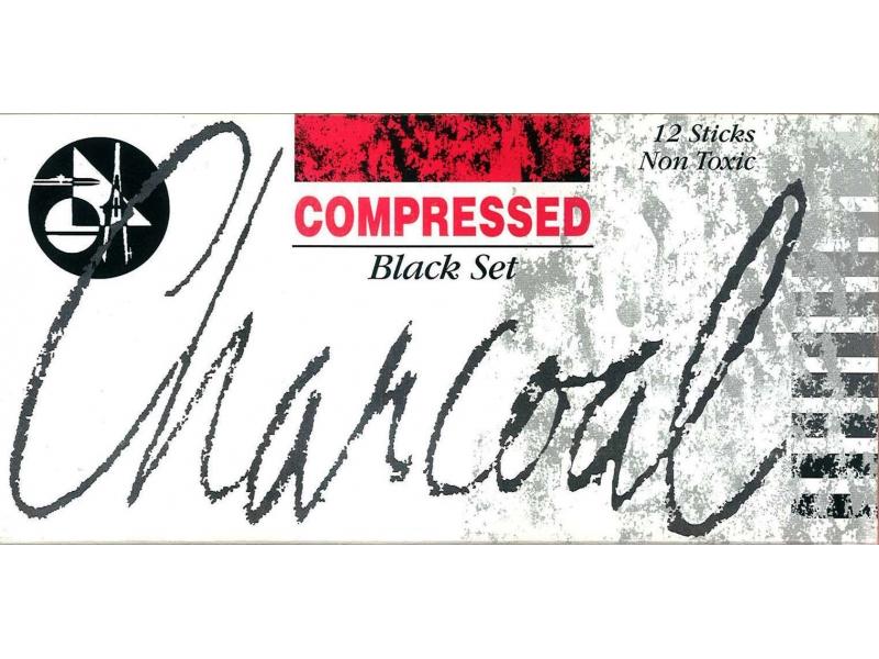 Charcoal Compressed 12 Sticks