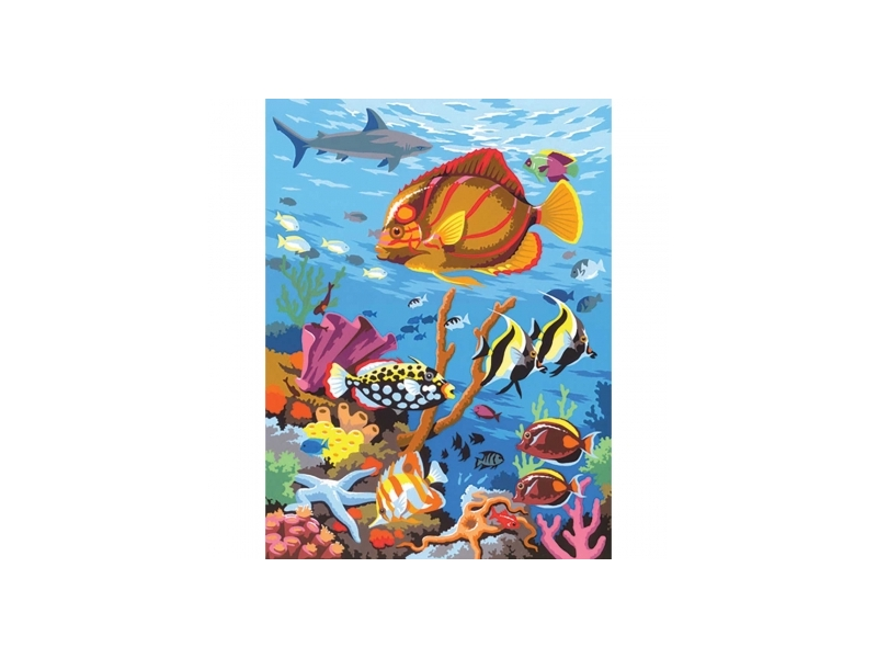 Painting By Numbers Coral Scene