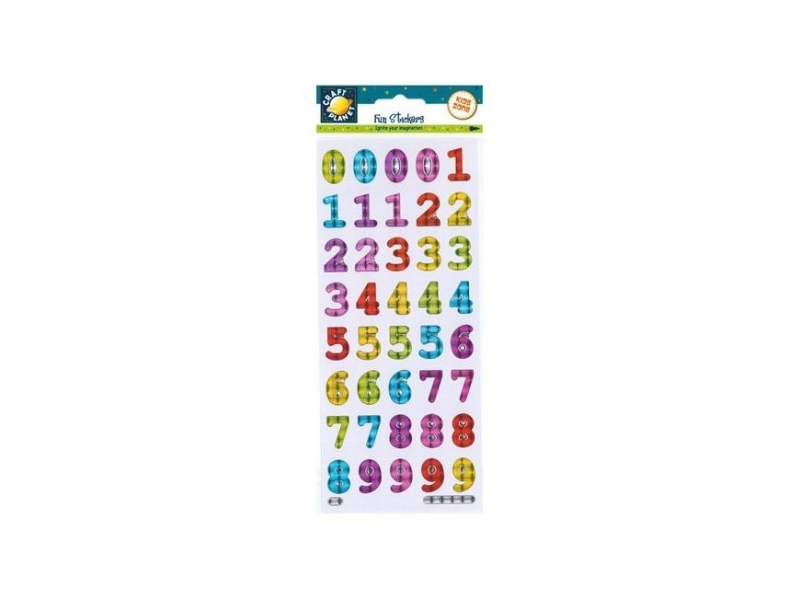 Craft Planet - Fun Stickers Bold Reflective Numbers