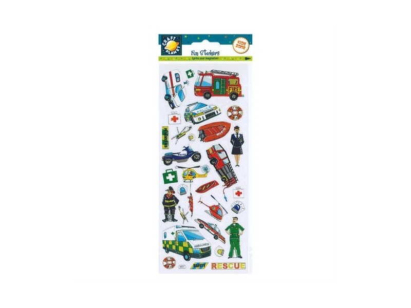 Craft Planet - Fun Stickers Rescue Vehicles