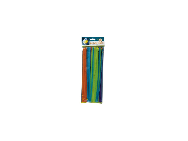 Pipe Cleaners Neon Colours Pack 60 - 300mm