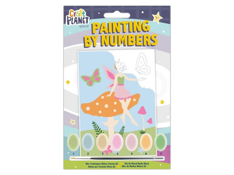 Craft Planet - Painting By Numbers Fairy