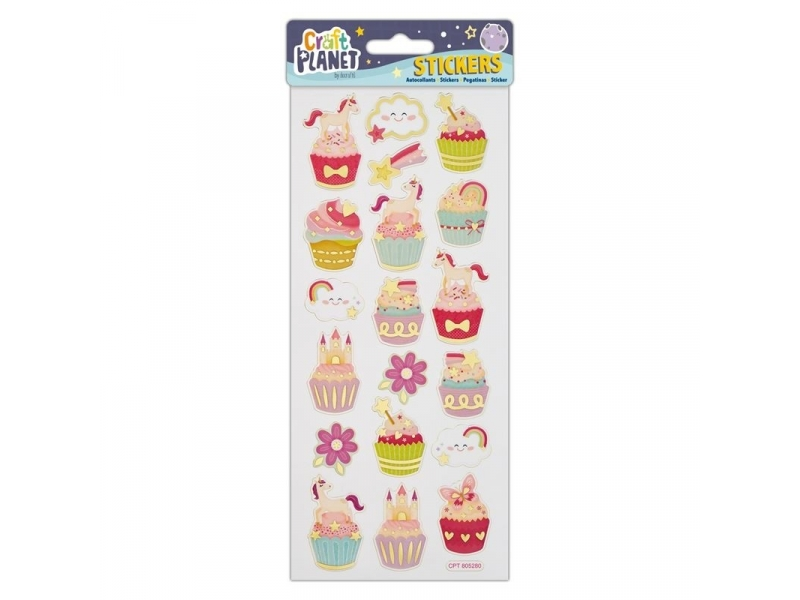 Craft Planet - Fun Stickers Unicorns & Cupcakes