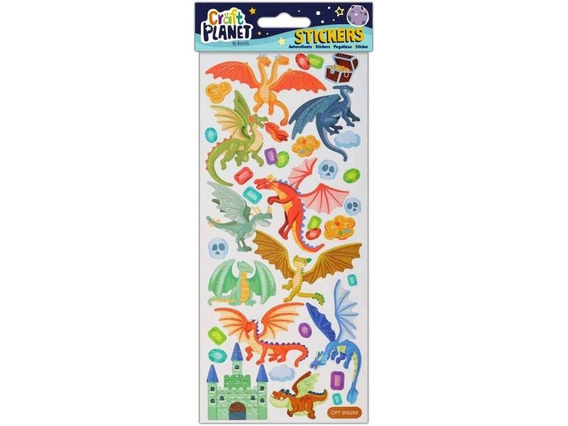 Craft Planet - Fun Stickers Dragon Castle