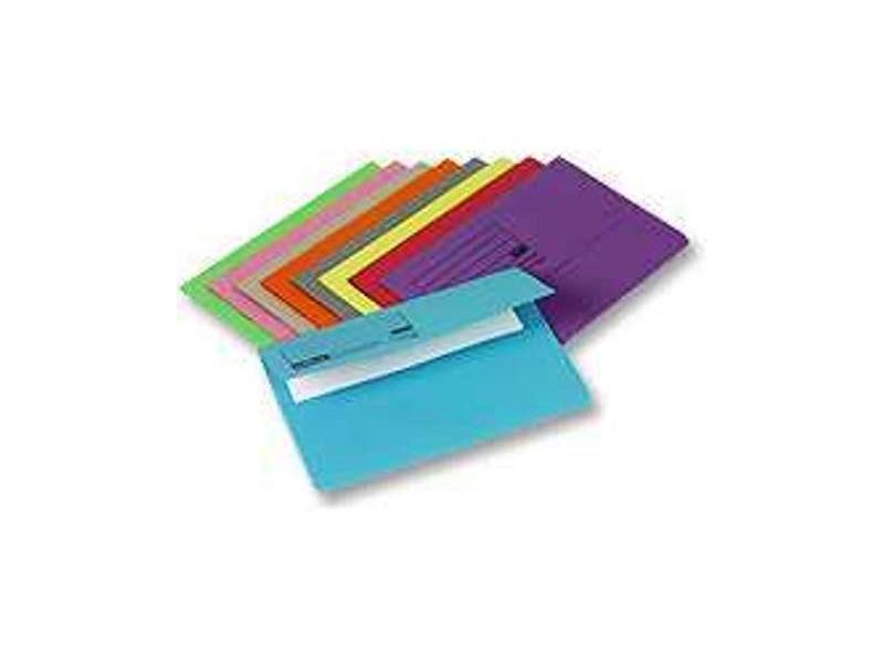 Document Wallet A4 Envelope Assorted Colours