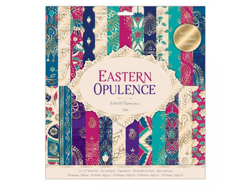 Papermania - 12x12 Paper Pack Eastern Opulence 50pk