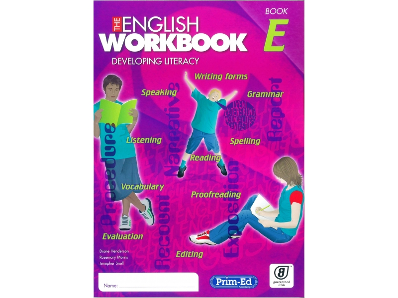 The English Workbook E - Fourth Class