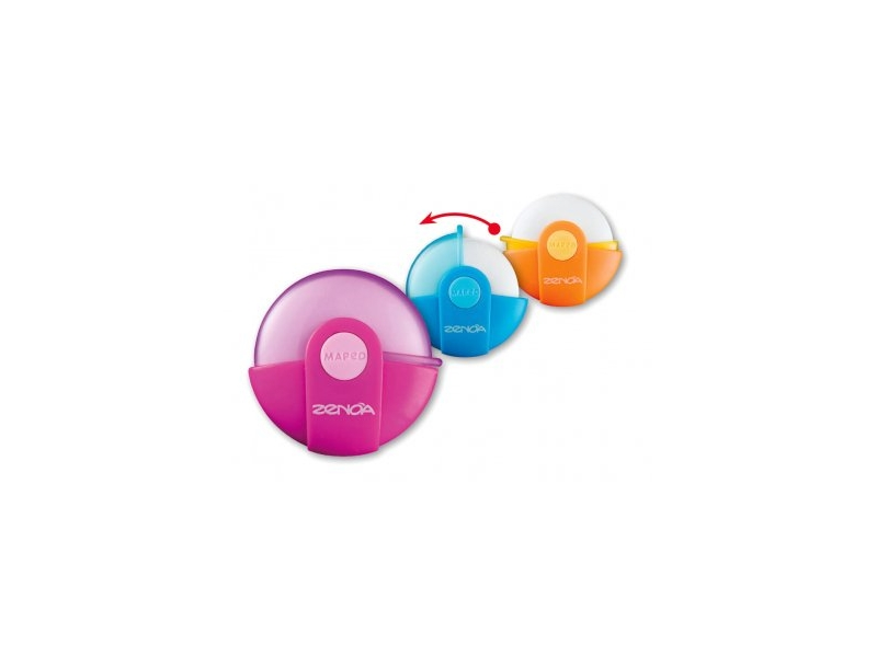 Zeno Circle Eraser With Cover - Assorted Colours