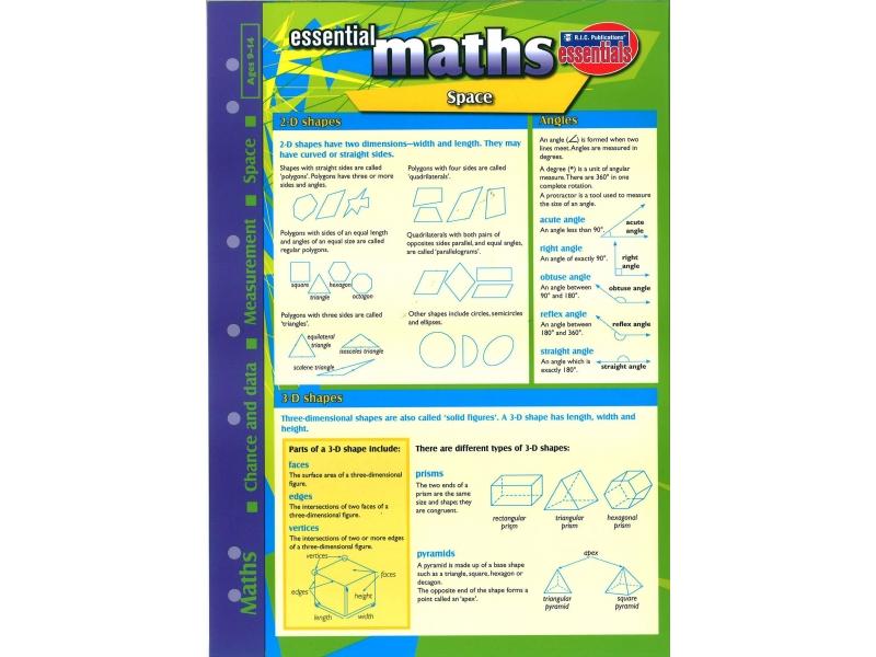 Essential Study Guide Maths: Shape/Space/Measurement/Data