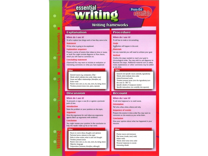 Essential Study Guide English Writing