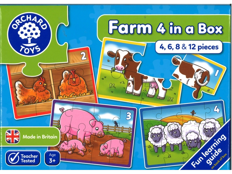 Farm puzzles 4 in a box
