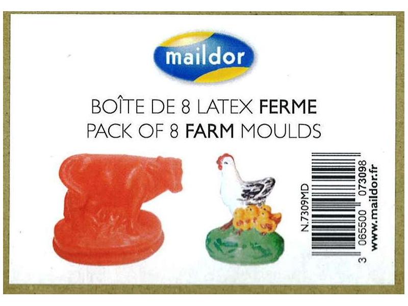 Maildor Moulds Farm Animals 8 Pack