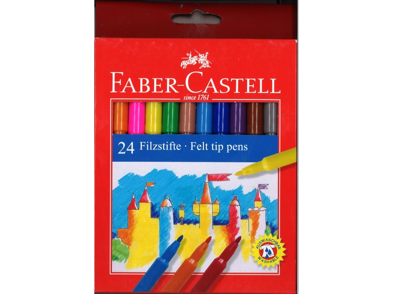 Faber-Castell Felt Tip Pens 24 Pack