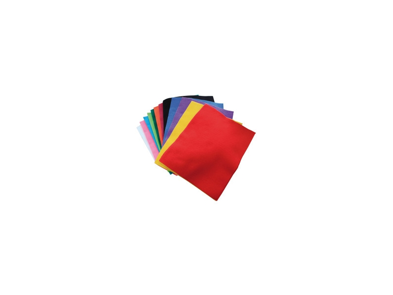 Craft Planet - 24 Pack Funky Felt Assorted Colours
