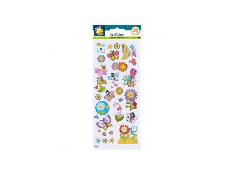 Craft Planet - Fun Stickers Flower Power
