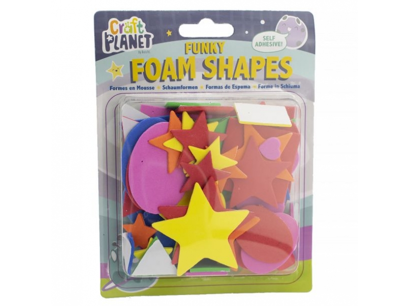 Craft Planet - Self Adhesive Funky Foam Shapes