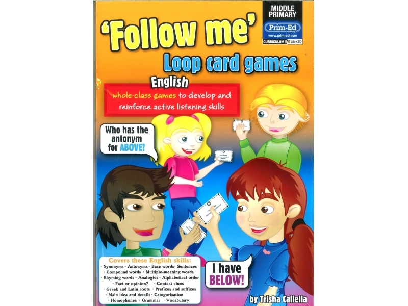Follow Me Loop Card Games English - Middle Primary