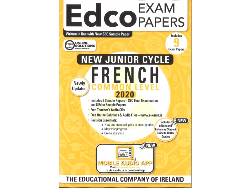 Junior Cycle French Common Level - Includes 2020 Exam Papers