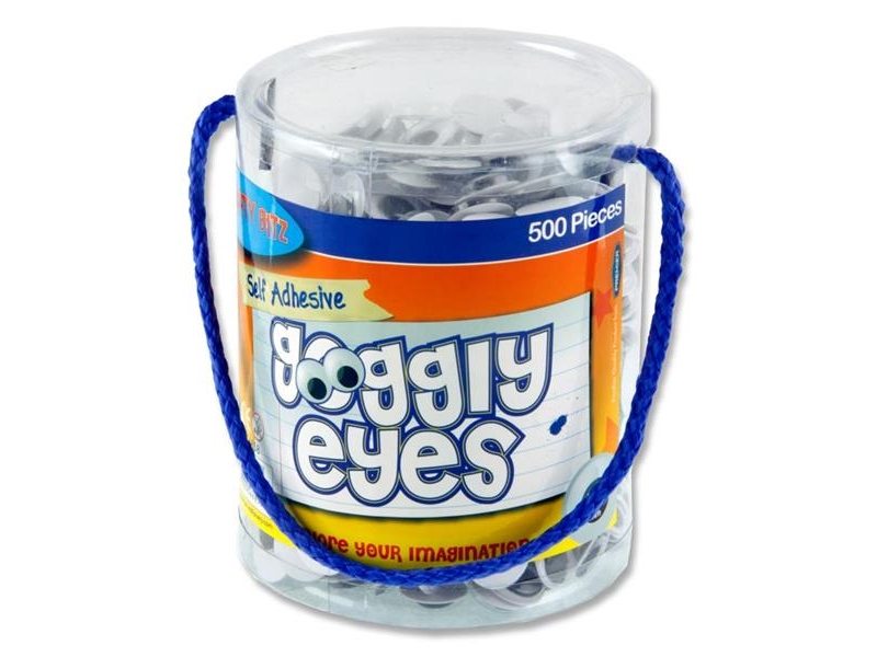 Wiggly Eyes 500 Tub 15mm