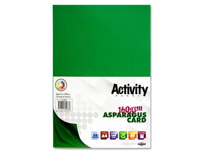 Dark Green Card (Asparagus) A4 50 Pack - 160gsm