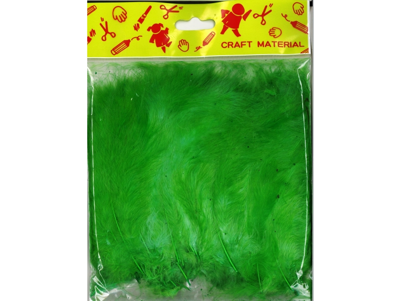 Feathers 7cm 200's Green
