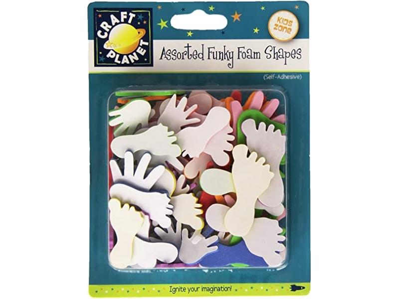 Craft Planet - Self Adhesive Funky Foam Hands & Feet